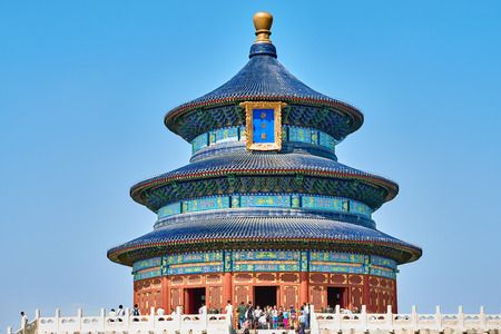 베이징, 중국 - 2014 년 9 월 24 일 : 천국의 성전 베이징 중국 베이징 중국을 방문하는 관광객