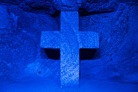 Catedral de Sal Salt Cathedral of Zipaquira Cundinamarca in Colombia South America Banco de Imagens