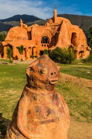 Villa De Leyva, Colombia  - February 8, 2017 : Casa Terracota House Villa de Leyva Boyaca in Colombia South America Editorial