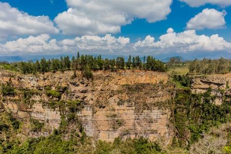 Chicamocha Canyon from Mesa de Los Santos landscapes andes mountains Santander in Colombia South America 版權商用圖片
