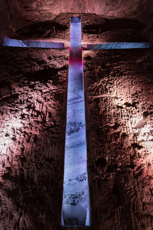 Catedral de Sal Salt Cathedral of Zipaquira Cundinamarca in Colombia South America Imagens