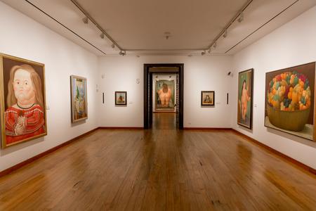 Bogota, Colombia - 4 februari 2017: schilderijen van Museo Botero museum in La Candelaria aera Bogota hoofdstad van Colombia Zuid-Amerika
