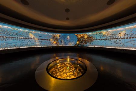 보고타, 콜롬비아 - 2017 년 2 월 24 일 : 콜롬비아의 보고타 수도 인 Museo del Oro 금 박물관 남미