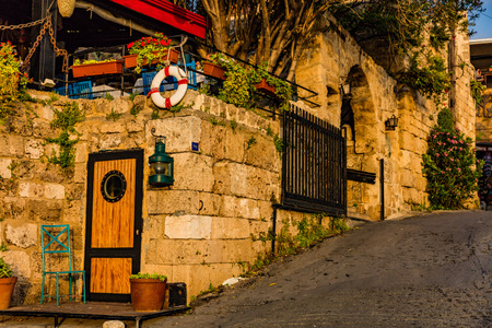 old street  of Byblos Jbeil in Lebanon Middle east Stock Photo