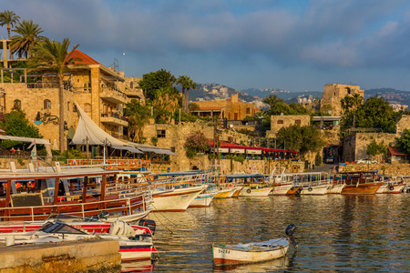 Ancient old harbour port of Byblos Jbeil in Lebanon Middle east
