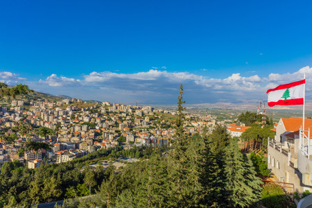 Zahle skyline cityscape dans la vallée de Beeka Liban Moyen-Orient