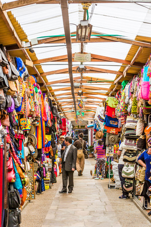 carrera: Bogota, Colombia  - February 3, 2017 : gift shop on Carrera Septima in Bogota capital city of Colombia South America