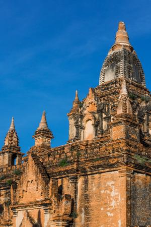 역사적인 수도 인 바간 미얀마의 아키텍처 정보