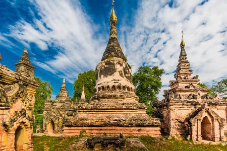 아바 Amarapura 만 달 레이 상태의 고 대 왕국의 폐허 미얀마 (버마) 스톡 콘텐츠