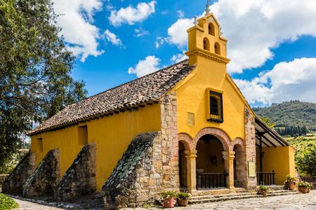 Paipa , Colombia  - February 14, 2017 : Hacienda Del Salitre hotel of Paipa Boyaca in Colombia South America Редакционное