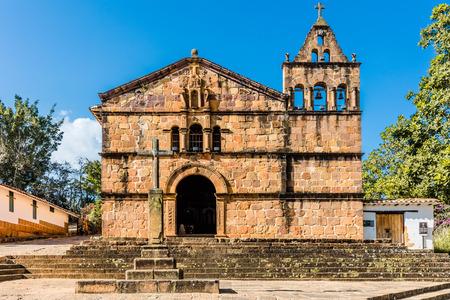 Capilla de Santa Barbara Barichara Santander in Colombia South America Фото со стока