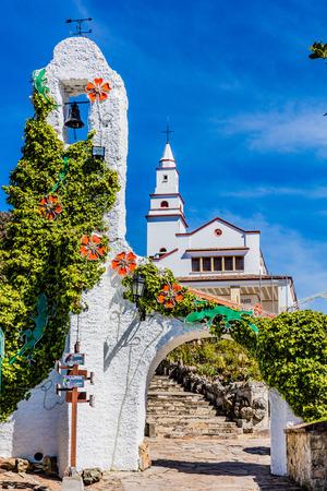 콜롬비아의 보고타 자본 도시에서 대성당 Santuario 델 Senhor 드 Monserrate 남아메리카 스톡 콘텐츠 - 83278620