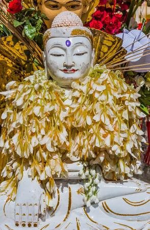 미얀마에서 Shwedagon 파고다 양곤 스톡 콘텐츠