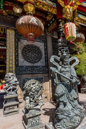 미얀마 (버마)의 중국 heng 호크 Temple 사원 양곤 (랑군) 스톡 콘텐츠