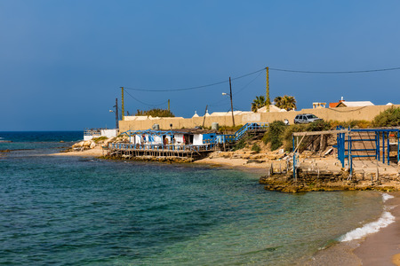 beach  Tyre Sur in South Lebanon Middle east Фото со стока - 93089426