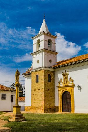 old church of Villa de Leyva Boyaca in Colombia South America Фото со стока