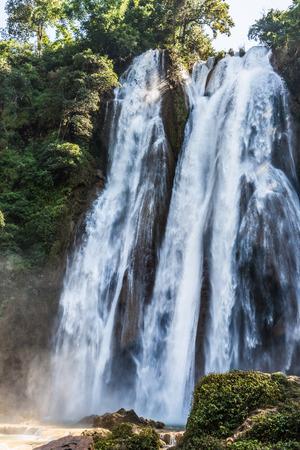 Dat Taw Gyaint Waterfall Anisakan Pyin Oo Lwin Mandalay state Myanmar Stock Photo