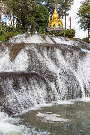 Pwe Gauk Waterfall Pyin Oo Lwin Mandalay state Myanmar (Burma) Stock Photo