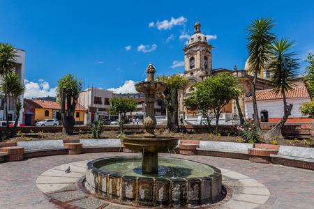 Paipa , Colombia  - February 14, 2017 : Parque Principal Jaime Rook Paipa Boyaca in Colombia South America
