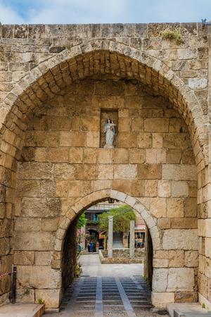 Old Souk Byblos Jbeil in Lebanon Middle east Stock Photo