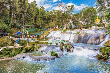 Pwe Gauk Waterfall Pyin Oo Lwin Mandalay state Myanmar (Burma) Banco de Imagens