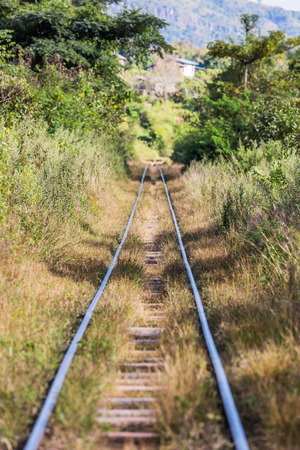 railroad track near Kalaw Shan state in Myanmar (Burma)