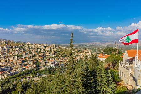 Zahle skyline cityscape dans la vallée de la Beeka Liban Moyen-orient