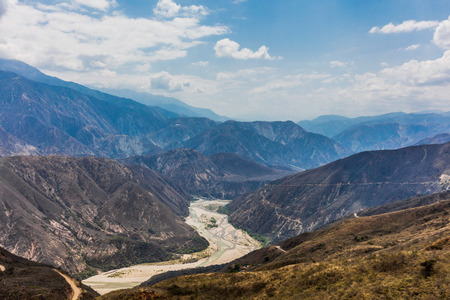 Chicamocha Canyon from Mesa de Los Santos landscapes andes mountains Santander in Colombia South America Stock Photo