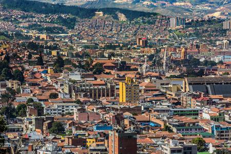 la candelaria Bogota Skyline cityscape  capital city of Colombia South America Banco de Imagens