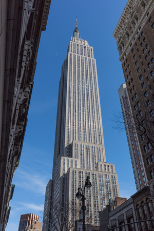 Empire state building  Manhattan Landmarks in New York City USA 免版税图像
