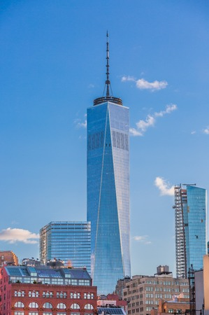 the World Trade Center one of the main Manhattan Landmarks in New York City USA