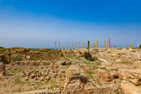 romans ruins  Tyre Sur in South Lebanon Middle east Stock Photo