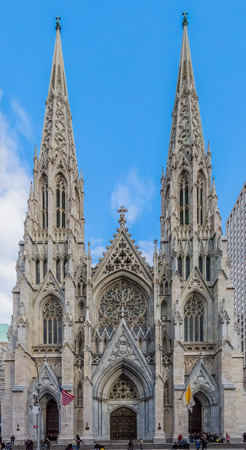 St. Patricks Cathedral one of  main one of the main Manhattan Landmarks in New York City USA Фото со стока
