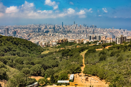 Beyrouth skylines cityscapes panorama capitale du Liban Moyen-orient Banque d'images
