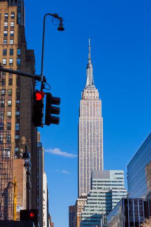 Empire state building  Manhattan Landmarks in New York City USA 스톡 콘텐츠