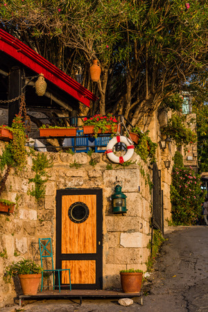old street  of Byblos Jbeil in Lebanon Middle east Reklamní fotografie