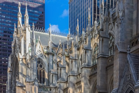 St. Patricks Cathedral one of  main one of the main Manhattan Landmarks in New York City USA 写真素材