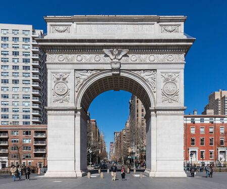 NEW YORK CITY- MARCH 26, 2018 : Washington Square one of the main Manhattan Landmarks