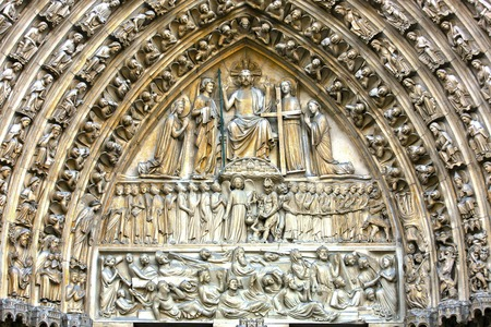 Notre Dame last judgment portal close up