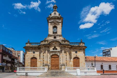 Paipa , Colombia  - February 14, 2017 : San Miguel Arcangel Church of Paipa Boyaca in Colombia South America