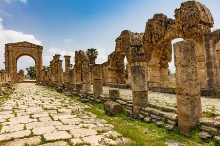 Site archéologique d'Al-Bass Tire Sur dans le sud du Liban Moyen-orient Banque d'images