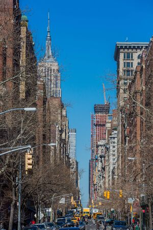 NEW YORK CITY- MARCH 26, 2018 : streets of Greenwich Village Manhattan Landmarks