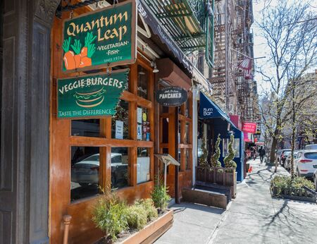 NEW YORK CITY- MARCH 26, 2018 : Soho streets one of the main Manhattan Landmarks