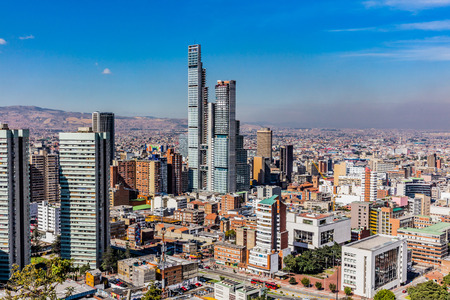 Bogota Skyline Stadtbild Hauptstadt von Kolumbien Südamerika Standard-Bild