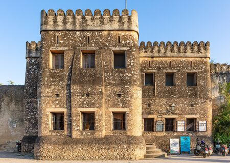 Stone Town , Zanzibar-February  28, 2019 : The Old Fort Ngome Kongwe