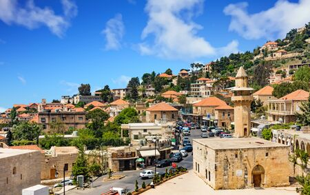Deir Al Qamar , Lebanon- April 28 : Deir El Qamar in mount Lebanon Middle east Editorial