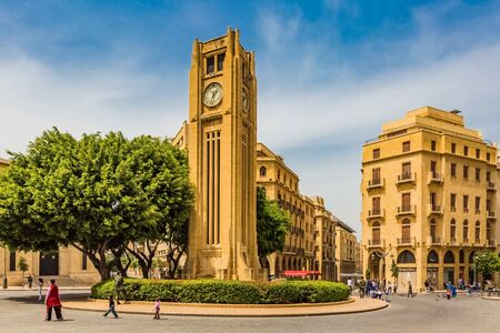 Beirut,Lebanon- April 30 : Nijmeh Square downtown in Beirut capital city of Lebanon Middle east
