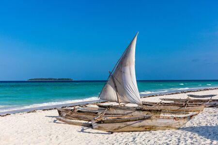 Muyuni white sand beach in Unguja aka Zanzibar Island Tanzania East Africa Imagens
