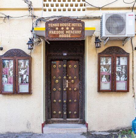 Stone Town , Zanzibar-February 28, 2019 : freddie mercury house facade