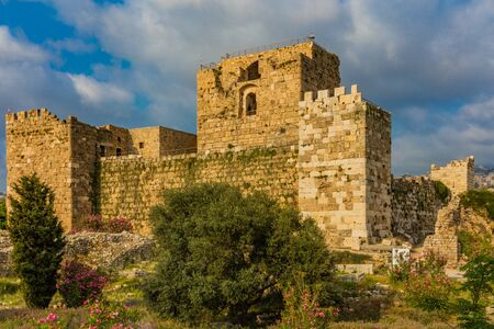 Byblos ,Lebanon- May 4 ,2017 : The Crusader Castle Byblos Jbeil in Lebanon Middle east